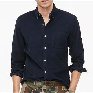 J.Crew NWT S Solid Slim Navy Blue Corduroy Shirt